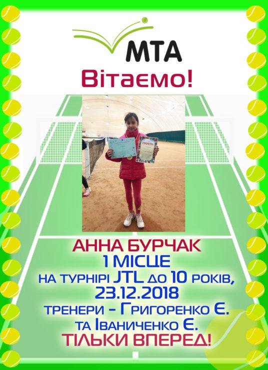 Аня Бурчак снова победила