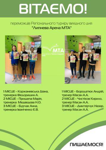 Региональный турнир выходного дня «Июльская Арена МТА»