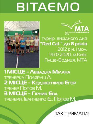 """Переможці турніру вихідного дня """"Red Cat """" до 8 років, 2012 р.н. і мол."""