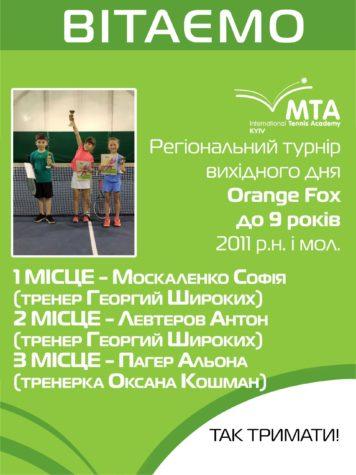Региональный турнир выходного дня Orange Fox