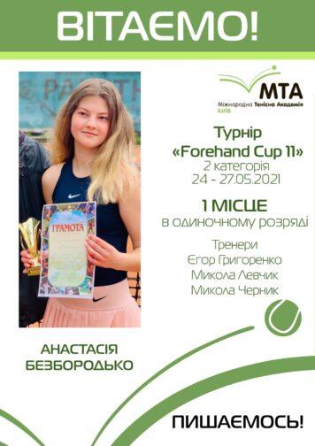 Победа Анастасии Безбородько