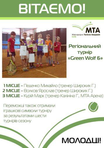 Регіональний турнір Green Wolf 6🐺